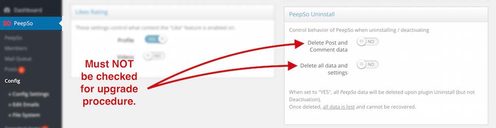 PeepSo Upgrade