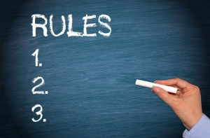Your rules should be fair and they should be clear. Make them visible.