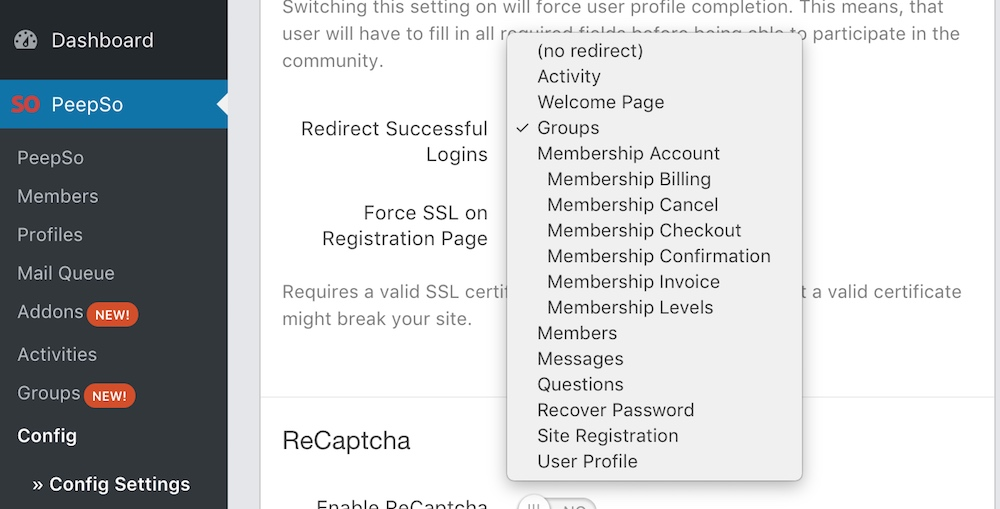 Successful Login Redirect to any page.