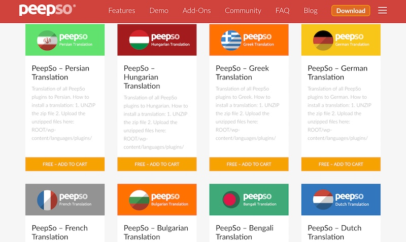 Translations Page
