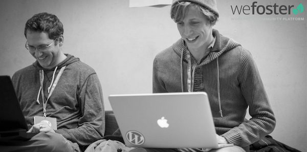WeFoster co-founders Marion Gooding & Bowe Frankema at WordCamp London 2015