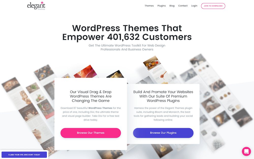 Elegant Themes Website