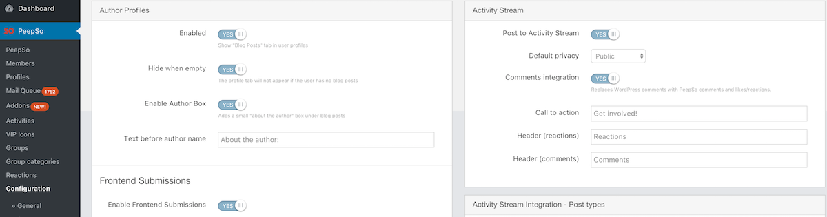New BlogPosts Settings
