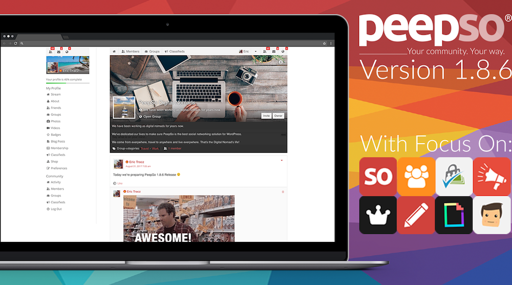 PeepSo 1.8.6 Release