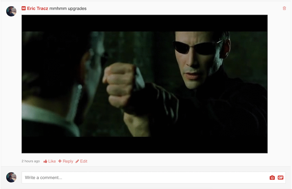 Original GIPHY gif size in a comment