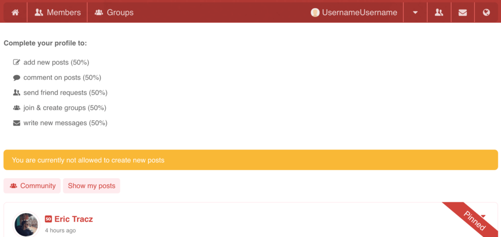 User Limits - showing what needs to be completed, can't be missed.
