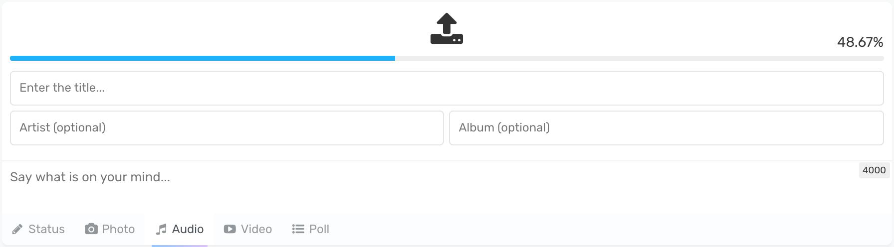 PeepSo PostBox Audio Uploads