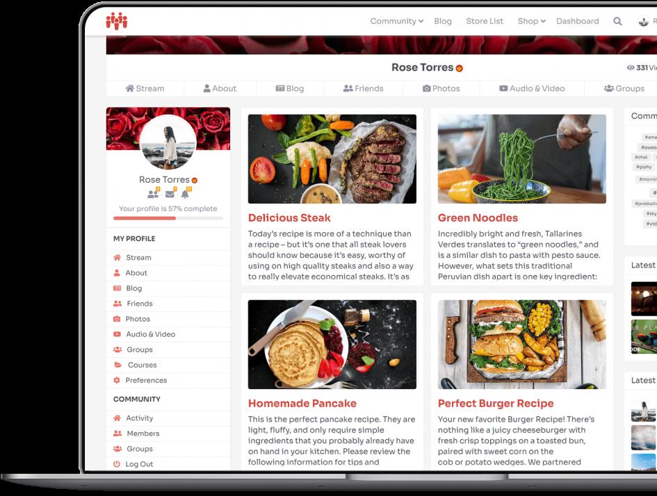 Learndash integration on PeepSo profile